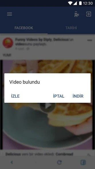 Android facebook video indirme uygulaması